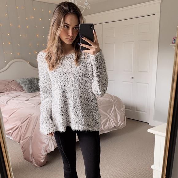 Garage clothing fuzzy sweater
